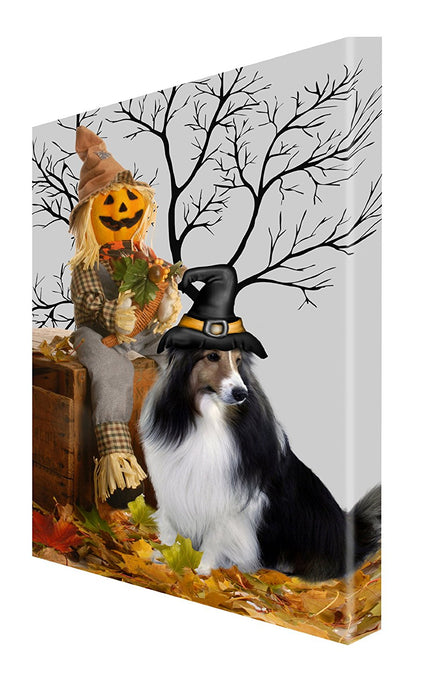 Sheltie Dog Halloween Canvas 18 x 24