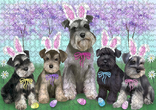 Schnauzers Dog Easter Holiday Puzzle with Photo Tin PUZL51312