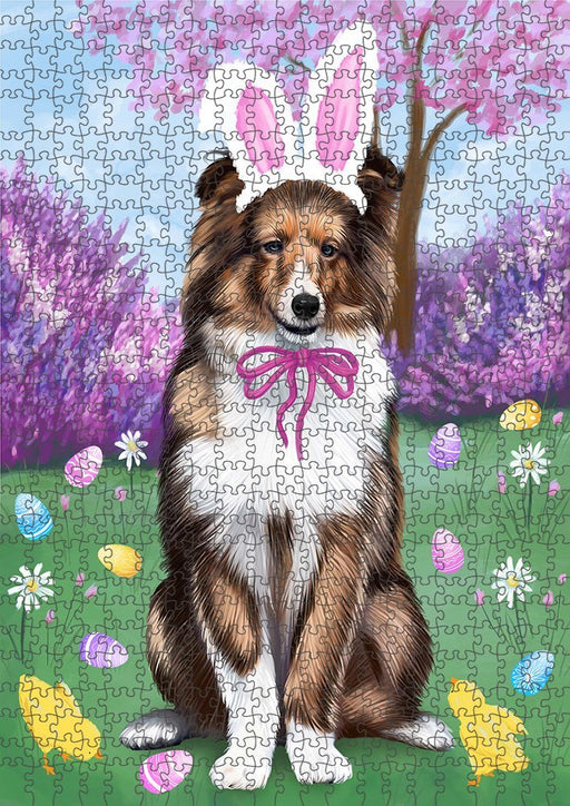 Shetland Sheepdog Easter Holiday Puzzle with Photo Tin PUZL51360