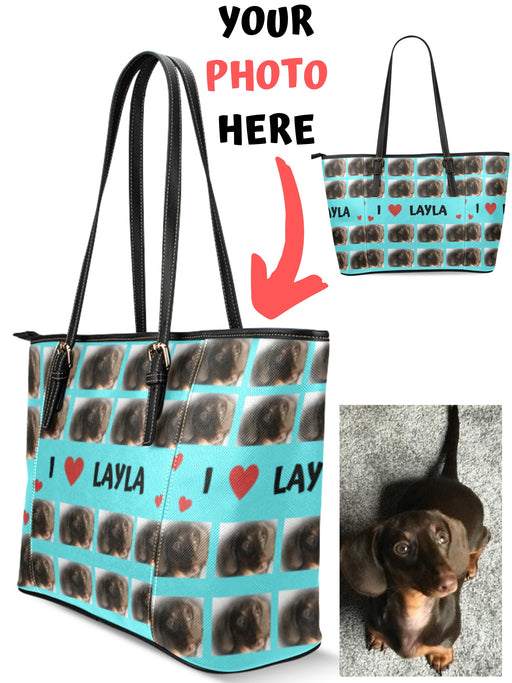 Add Your PERSONALIZED PET Photos on Euramerican Tote Bag Large