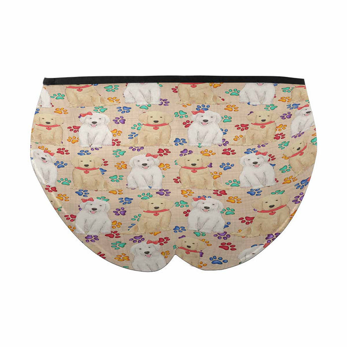 Golden Retriever Dogs Red  Women's High Waist Briefs (Model L26)