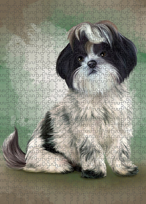 Shih Tzu Dog Puzzle with Photo Tin PUZL1671