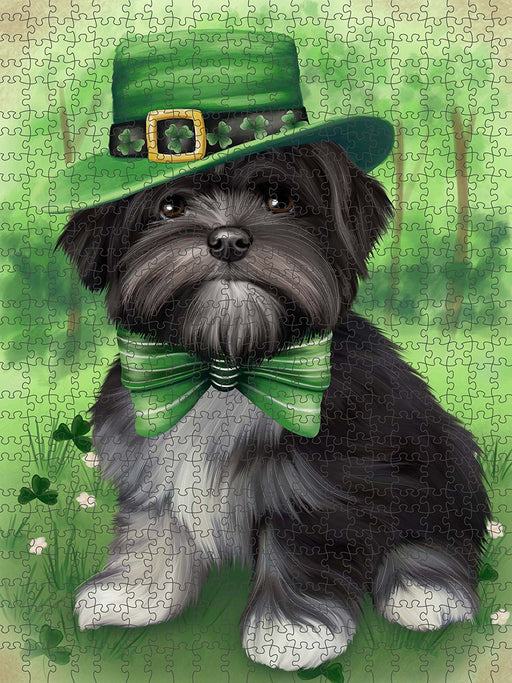 St. Patricks Day Irish Portrait Lhasa Apso Dog Puzzle with Photo Tin PUZL50676