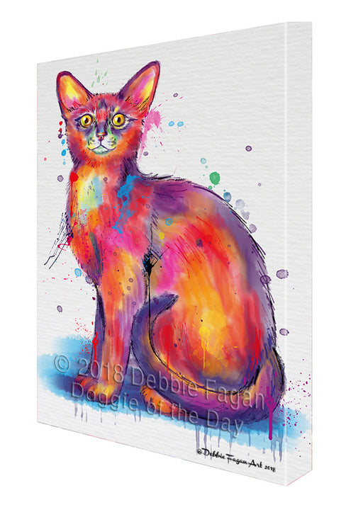 Watercolor Abyssinian Cat Canvas Print Wall Art Décor CVS137096