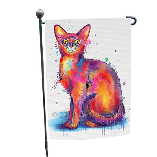 Watercolor Abyssinian Cat Garden Flag GFLG65152