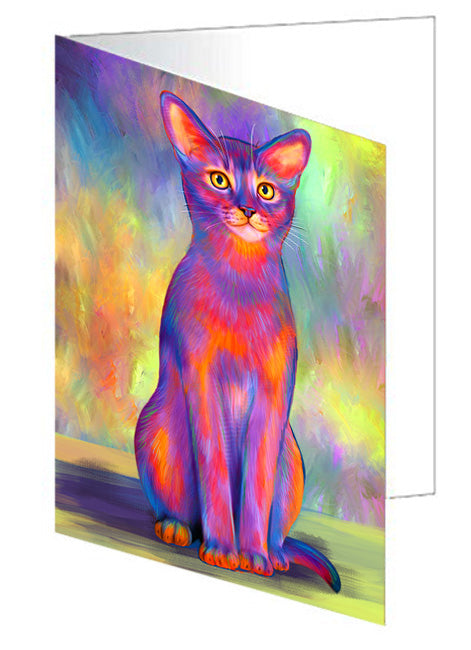 Paradise Wave Abyssinian Cat Greeting Card GCD74558