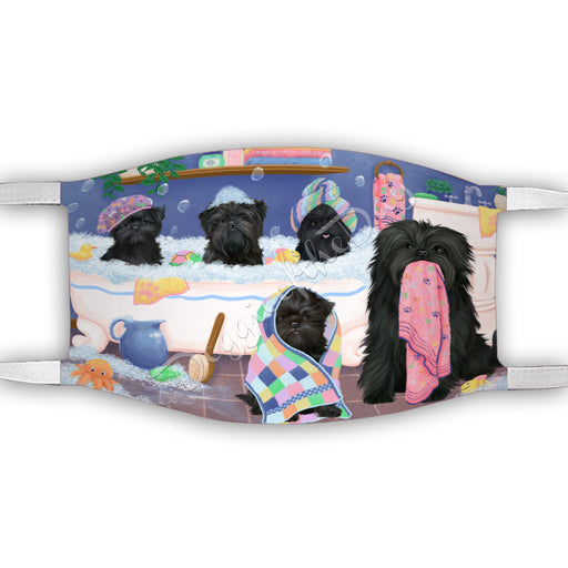 Rub A Dub Dogs In A Tub  Affenpinscher Dogs Face Mask FM49460