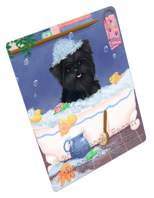 Rub A Dub Dog In A Tub Affenpinscher Dog Refrigerator / Dishwasher Magnet RMAG108630