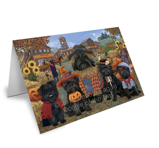 Halloween 'Round Town Affenpinscher Dogs Note Card NCD77711