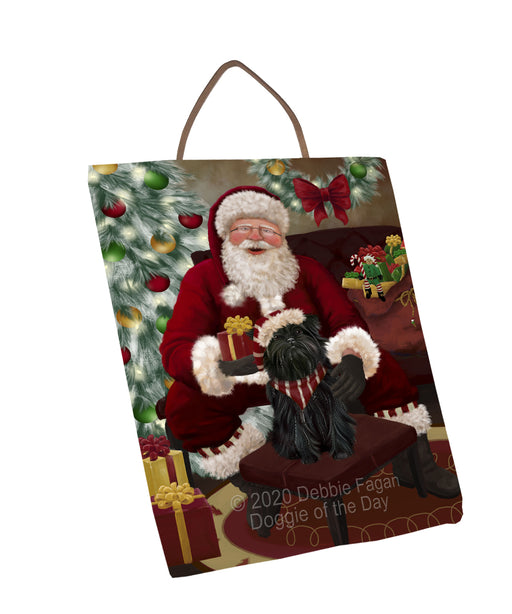 Santa's Christmas Surprise Affenpinscher Dog Wall Décor Hanging Photo Slate SLTH58398