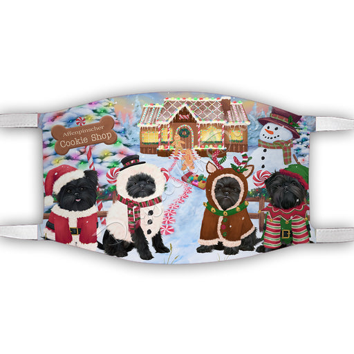 Holiday Gingerbread Cookie Affenpinscher Dogs Shop Face Mask FM48851