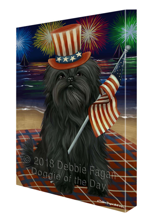 4th of July Firework Affenpinscher Dog Canvas Wall Art CVSA49350