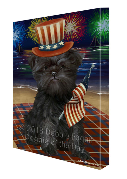 4th of July Firework Affenpinscher Dog Canvas Wall Art CVSA49368
