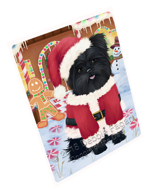 "Christmas Gingerbread House Candyfest Affenpinscher Dog Magnet MAG73477 (Mini 3.5"" x 2"")"