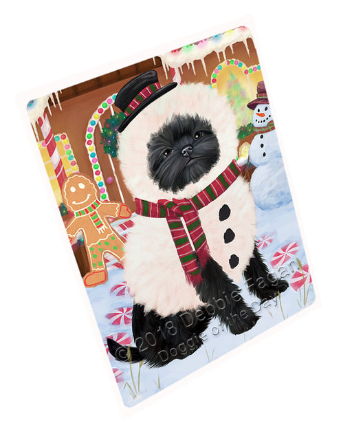 "Christmas Gingerbread House Candyfest Affenpinscher Dog Magnet MAG73480 (Mini 3.5"" x 2"")"
