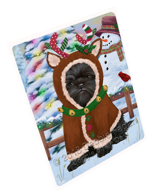 "Christmas Gingerbread House Candyfest Affenpinscher Dog Magnet MAG73483 (Mini 3.5"" x 2"")"