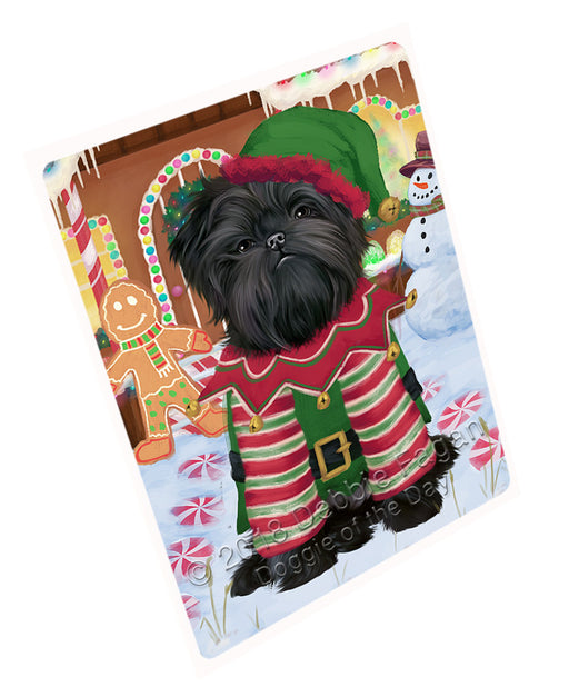 "Christmas Gingerbread House Candyfest Affenpinscher Dog Magnet MAG73486 (Mini 3.5"" x 2"")"