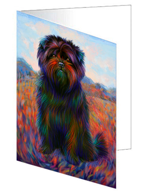 Mystic Blaze Affenpinscher Dog Note Card NCD64730