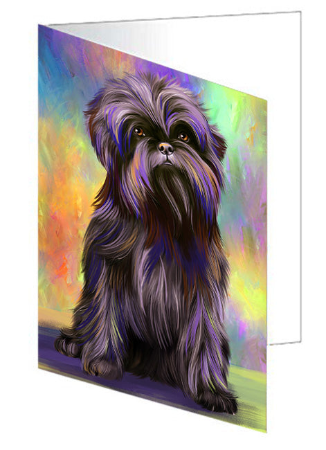 Pardise Wave Affenpinscher Dog Note Card NCD64802