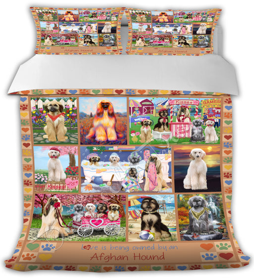 Love is Being Owned Afghan Hound Dogs Beige Bed Comforter CMFTR50562