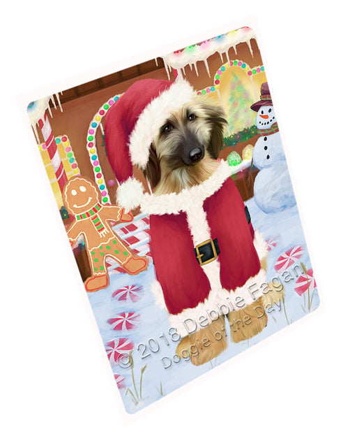 Christmas Gingerbread House Candyfest Afghan Hound Dog Large Refrigerator / Dishwasher Magnet RMAG98970