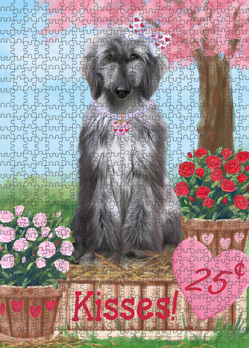 Rosie 25 Cent Kisses Afghan Hound Dog Puzzle with Photo Tin PUZL91208