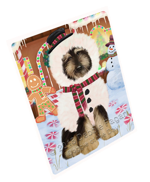 Christmas Gingerbread House Candyfest Afghan Hound Dog Large Refrigerator / Dishwasher Magnet RMAG98976