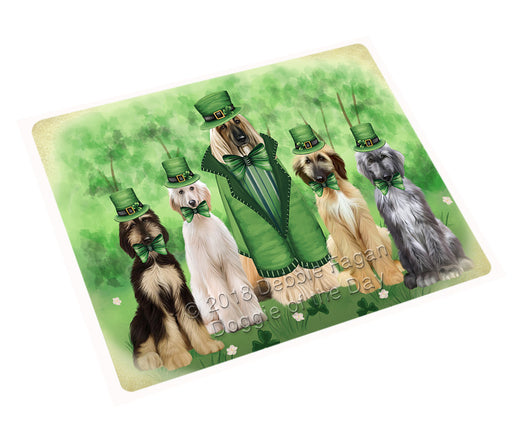 St. Patricks Day Irish Portrait Afghan Hound Dogs Refrigerator / Dishwasher Magnet RMAG104166