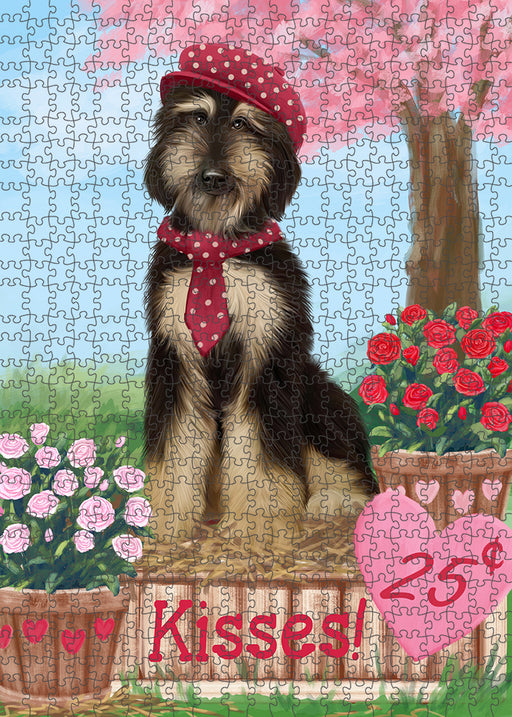 Rosie 25 Cent Kisses Afghan Hound Dog Puzzle with Photo Tin PUZL91212