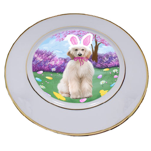 Easter Holiday Afghan Hound Dog Porcelain Plate PLT55250