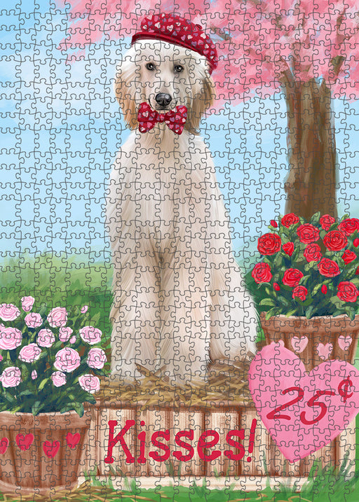 Rosie 25 Cent Kisses Afghan Hound Dog Puzzle with Photo Tin PUZL91216
