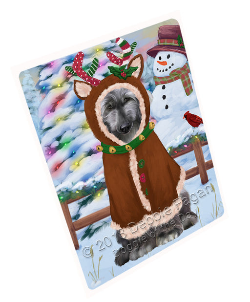 Christmas Gingerbread House Candyfest Afghan Hound Dog Large Refrigerator / Dishwasher Magnet RMAG98982