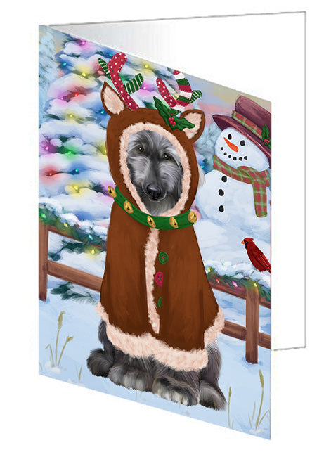 Christmas Gingerbread House Candyfest Afghan Hound Dog Note Card NCD72872