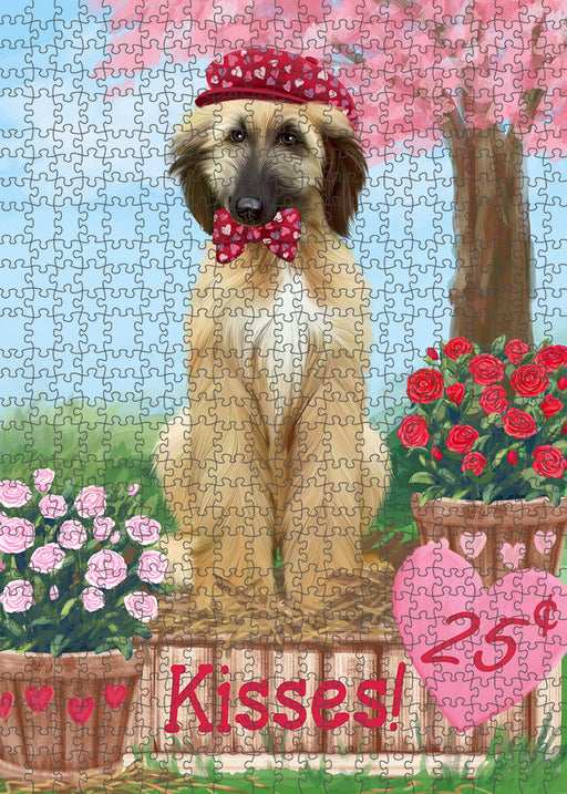 Rosie 25 Cent Kisses Afghan Hound Dog Puzzle with Photo Tin PUZL91220