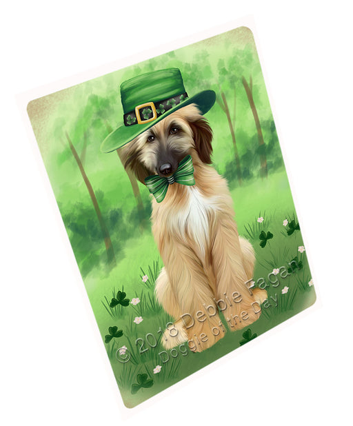 St. Patricks Day Irish Portrait Afghan Hound Dog Refrigerator / Dishwasher Magnet RMAG104178