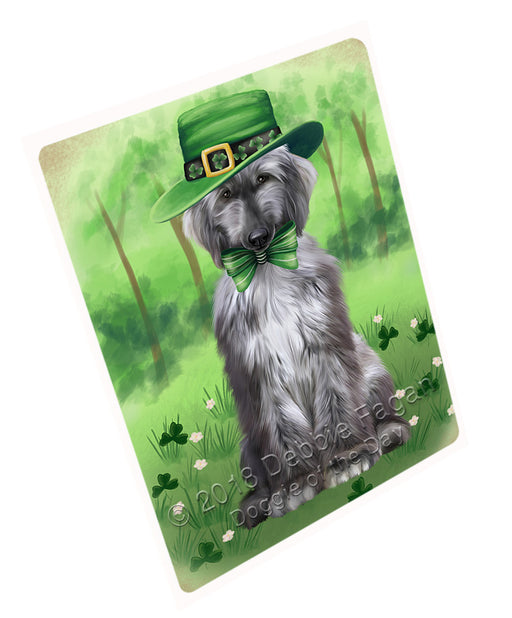 St. Patricks Day Irish Portrait Afghan Hound Dog Refrigerator / Dishwasher Magnet RMAG104184