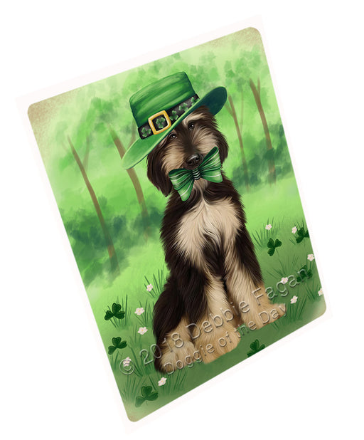 St. Patricks Day Irish Portrait Afghan Hound Dog Refrigerator / Dishwasher Magnet RMAG104190