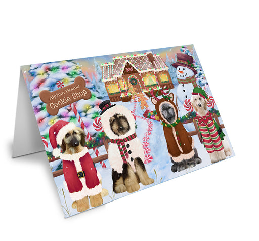 Holiday Gingerbread Cookie Shop Afghan Hounds Dog Note Card NCD72785
