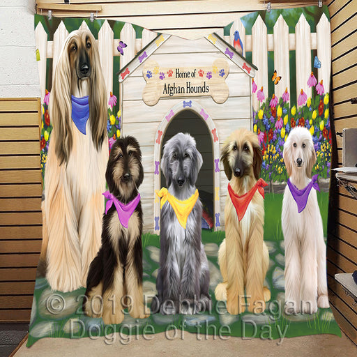Spring Dog House Afghan Hound Dogs Area Rug