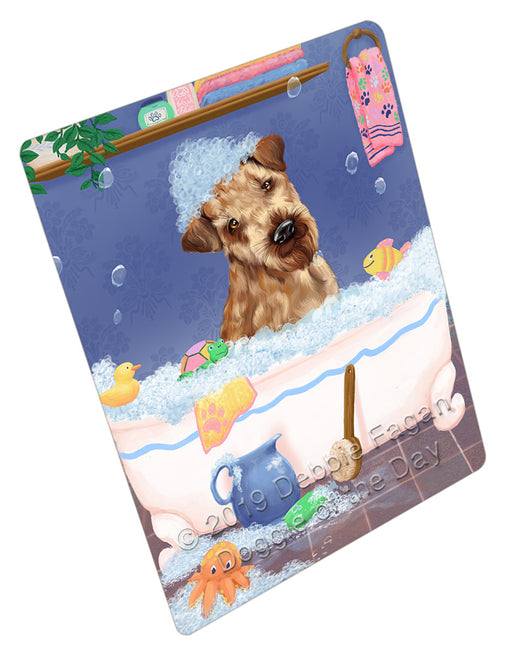 Rub A Dub Dog In A Tub Airedale Dog Refrigerator / Dishwasher Magnet RMAG108660