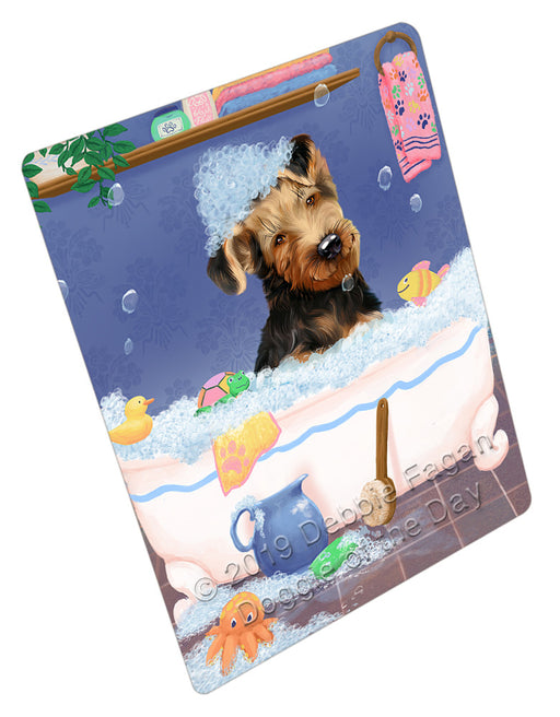 Rub A Dub Dog In A Tub Airedale Dog Refrigerator / Dishwasher Magnet RMAG108666