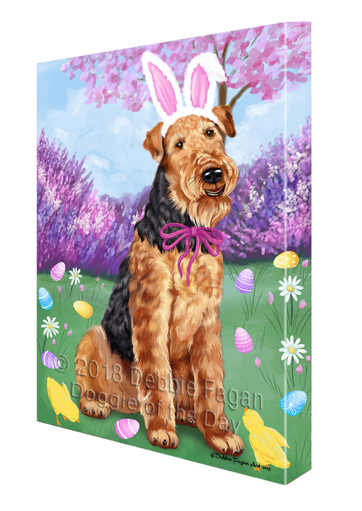 Airedale Terrier Dog Easter Holiday Canvas Wall Art CVS56838