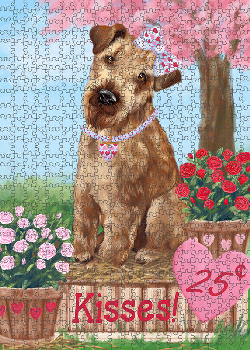 Rosie 25 Cent Kisses Airedale Terrier Dog Puzzle with Photo Tin PUZL91224