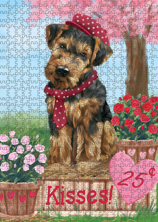 Rosie 25 Cent Kisses Airedale Terrier Dog Puzzle with Photo Tin PUZL91228