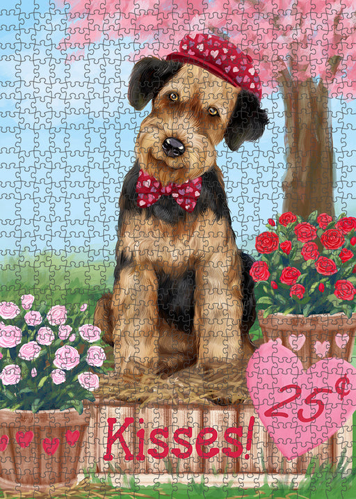 Rosie 25 Cent Kisses Airedale Terrier Dog Puzzle with Photo Tin PUZL91232