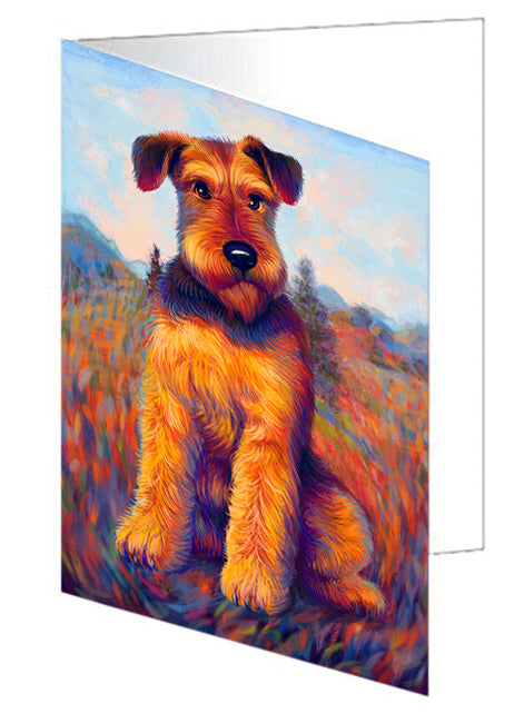 Mystic Blaze Airedale Terrier Dog Note Card NCD64736