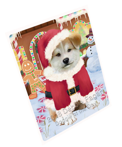"Christmas Gingerbread House Candyfest Akita Dog Magnet MAG73513 (Mini 3.5"" x 2"")"