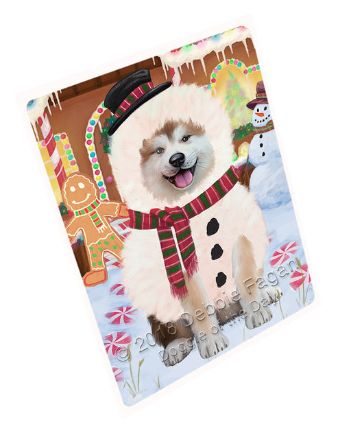 "Christmas Gingerbread House Candyfest Akita Dog Magnet MAG73516 (Mini 3.5"" x 2"")"