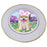 Easter Holiday Akita Dog Porcelain Plate PLT55256