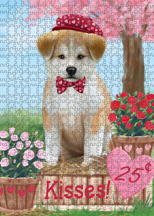 Rosie 25 Cent Kisses Akita Dog Puzzle with Photo Tin PUZL91244